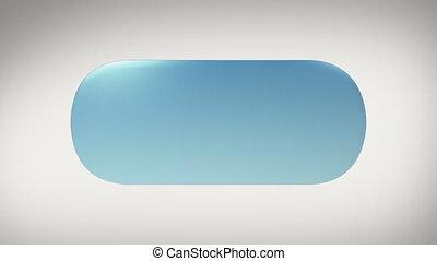 blu pallido, adesivo, etichetta, con, alfa