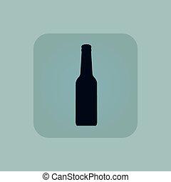 blu, pallido, alcool, icona