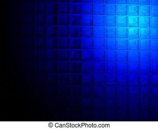 blu, parete, Estratto, vetro, illuminazione, sopra