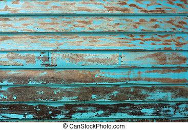 blu, parete legno