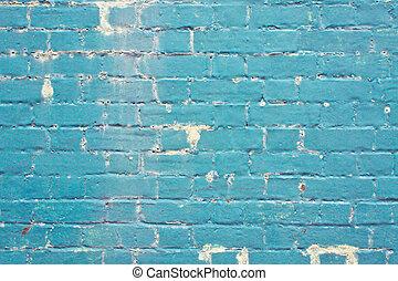 blu, parete, mattone