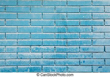 blu, parete, mattone, cielo