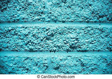 blu, parete, mattone, fondo