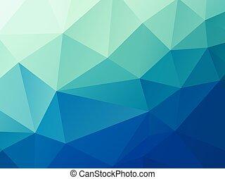blu, pastello, astratto, poly, vettore, verde, basso, fondo