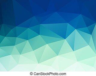 blu, pastello, astratto, polygonal, vettore, sfondo verde
