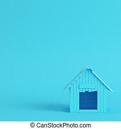 blu, pastello, doghouse, colori luminosi, fondo