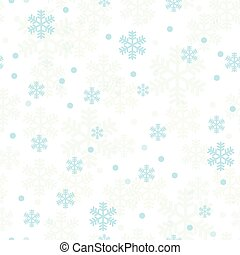 blu, pastello, fiocchi neve, modello, seamless, natale