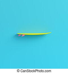 blu, pastello, surfboard, luminoso, giallo, colori, fondo