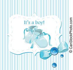 blu, pattini bambino, scheda, invito