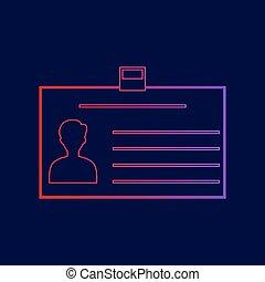 blu, pendenza, segno., scuro, fondo., colori, scheda identificazione, vector., viola, linea, rosso, icona