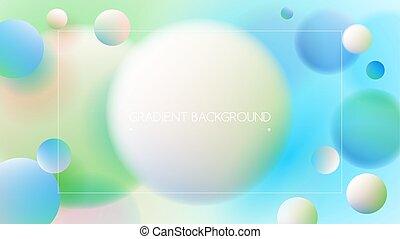 blu, pendenza, vibrante, colori, sfondo verde