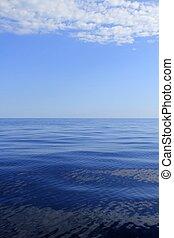 blu, perfetto, mare, oceano, calma, orizzonte