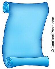 blu, pergamena, lettera