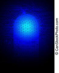blu, pietra, luce, Estratto, parete, dettagli, scienza