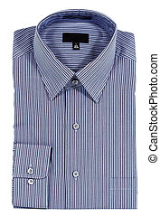 blu, pinstriped, vesta camicia