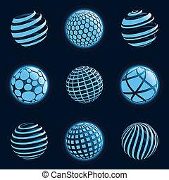 Blu planet icons.