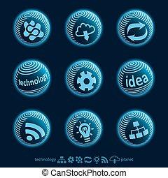 Blu planet icons