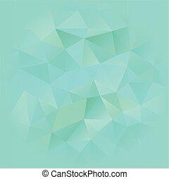 blu, poligonal, turchese, fondo
