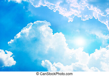 blu, pulito, sky.