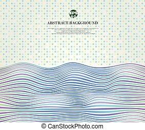 blu, punti, pendenza, astratto, zebrato, modello, onda, linee, ondulato, armonia, fondo, morbido