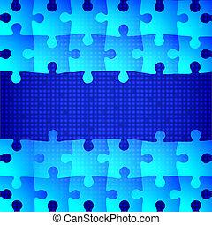 blu, puzzle, fondo