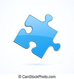 blu, puzzle