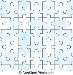 blu, puzzle, jigsaw, seamless, sagoma, vuoto