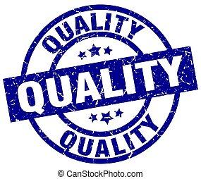 blu, qualità, grunge, rotondo, francobollo