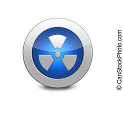 blu, radiazione, lucido, fondo, bianco, icona