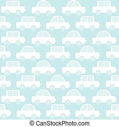 blu, ragazzo, automobili, seamless, fondo, bambino, cartone animato