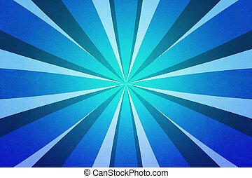 blu, raggi, fondale, struttura