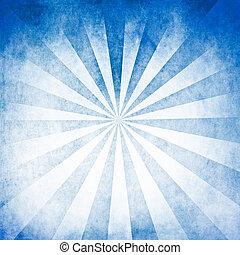 blu, raggi, fondo, vuoto