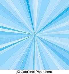 blu, raggi, raggi, illustrazione, fondo., luminoso, vettore, disegno, tuo