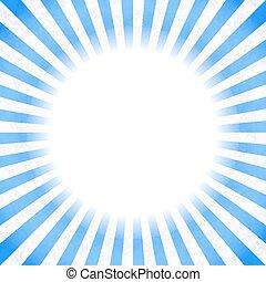 blu, raggi, retro, fondo