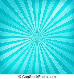 blu, raggi, struttura, fondo