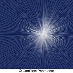 blu, rays., radiale