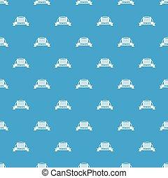 blu, recinto, modello, seamless, vettore, mattone