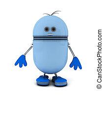 blu, robot