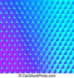 blu, rosa, brillante, triangoli, modello
