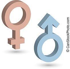 blu, rosa, ground., eps10, colorare, illustrazione, simboli, vettore, femmina, uggia, maschio, 3d