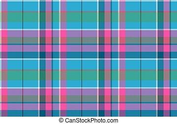 blu, rosa, tessuto plaid, modello, seamless, tessile, verde, assegno