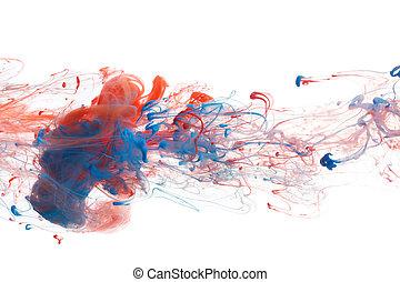 blu, rosso, inchiostro