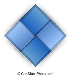 blu, sagoma
