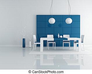 blu, sala da pranzo