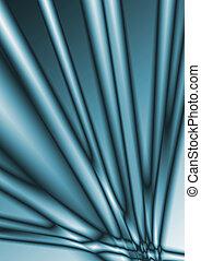blu, sbarra, cubico, astratto, linee, vetro, fondo