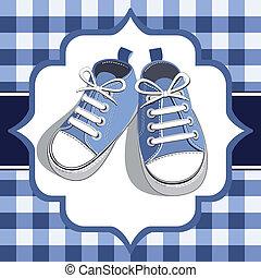 blu, scarpa tennis, bambini