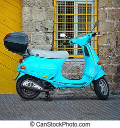 blu,  scooter