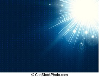 blu, scoppio, astratto, fondo., illuminazione, tecnologia
