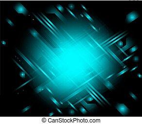 blu scuro, astratto, fondo