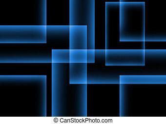 blu, scuro, astratto, quadrato, fondo